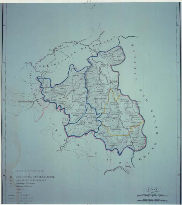 Cartina Geografica Di Viterbo E Provincia.Archivio Dis Tato Di Rieti